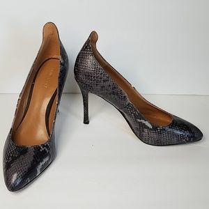Nine west snake print heels sz 10M